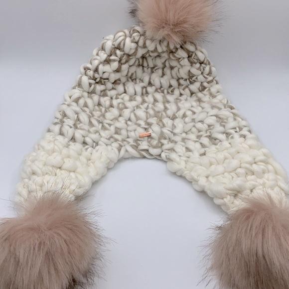 Free People Snow Castle Faux Fur Hat NWOT